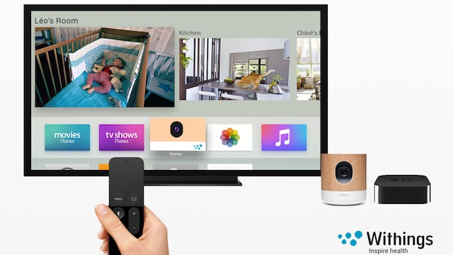 Work Monitoring System : Withings home monitoring system will work with apple tv