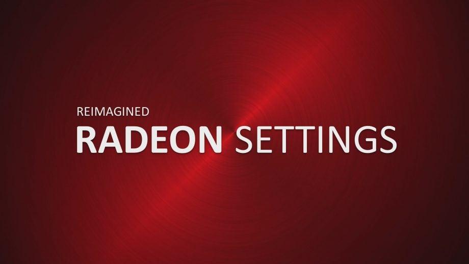 AMD Radeon Software Crimson Settings