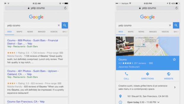 Google Yelp Search