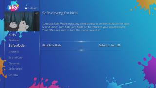 Sky Q Kids mode