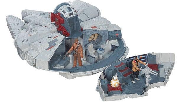star wars: the force awakens – battle action millennium falcon