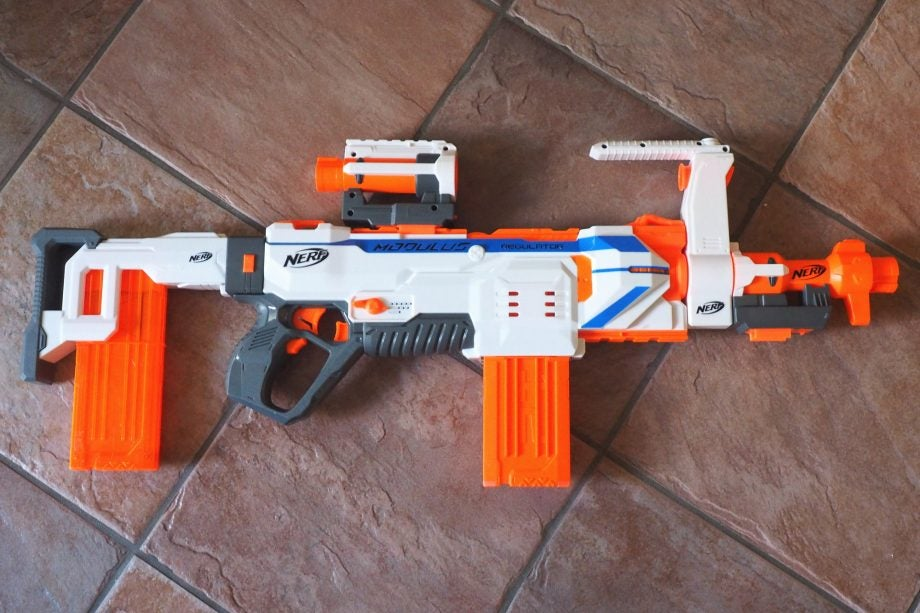 Nerf guns were created for light-hearted fun — squishy darts shot to  terrorize older siblings and parents — but now the toys have slugged the  metaphorical ...