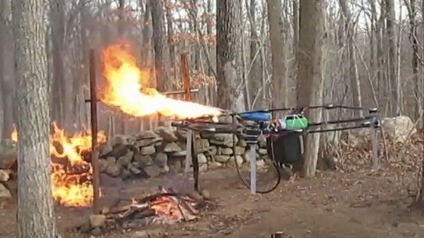 fire drone
