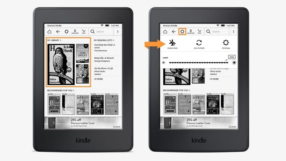 Kindle UI