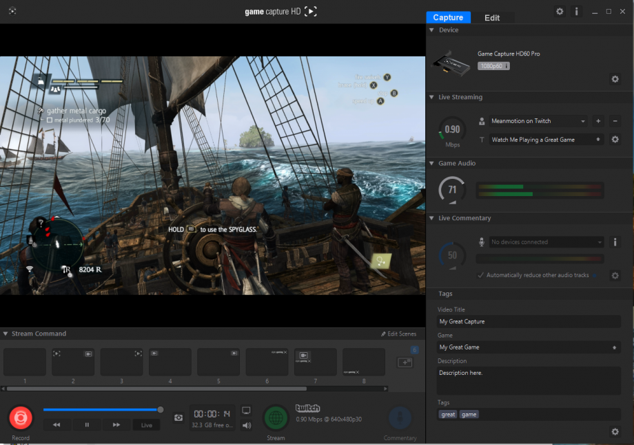 how to use elgato game capture