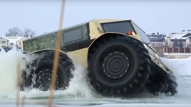 Watch Russia S Insane 50 000 Super Truck Can Actually