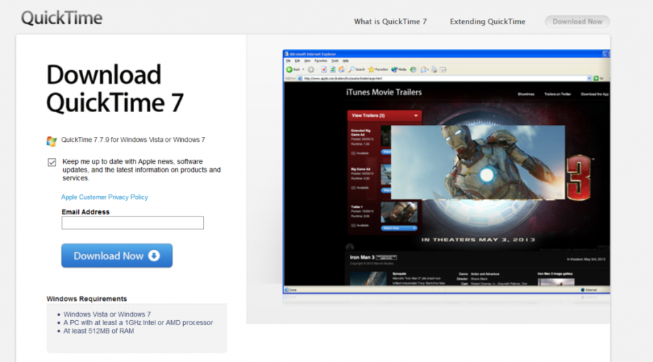 Apple QuickTime download