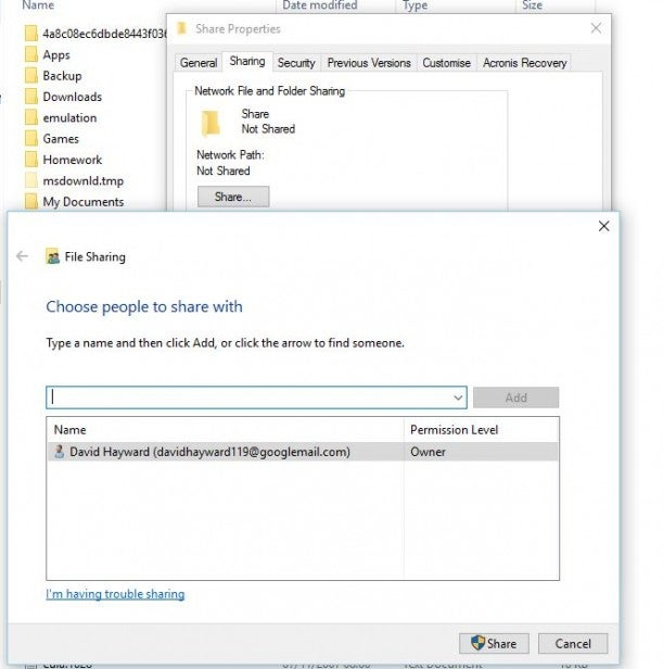access hard drive from another computer on network windows 10