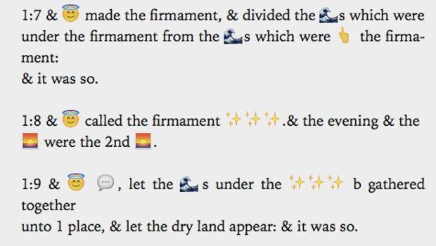 Scripture 4 Millennials Offers The Bible In Emojis