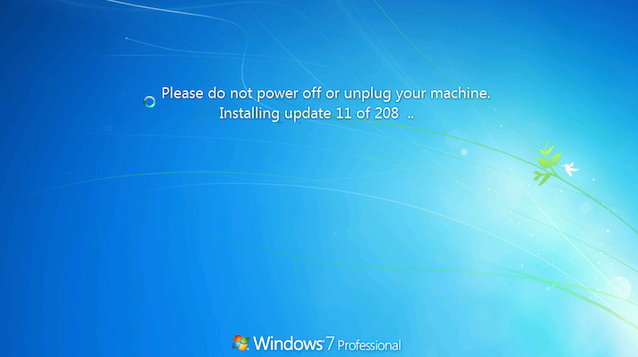 Windows 7 professional not updating