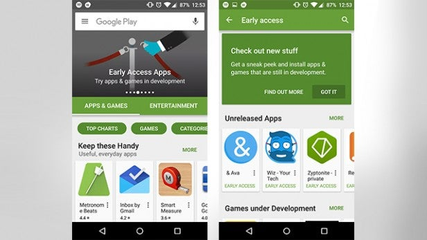 The Play Store's new Early Access section is live | Trusted