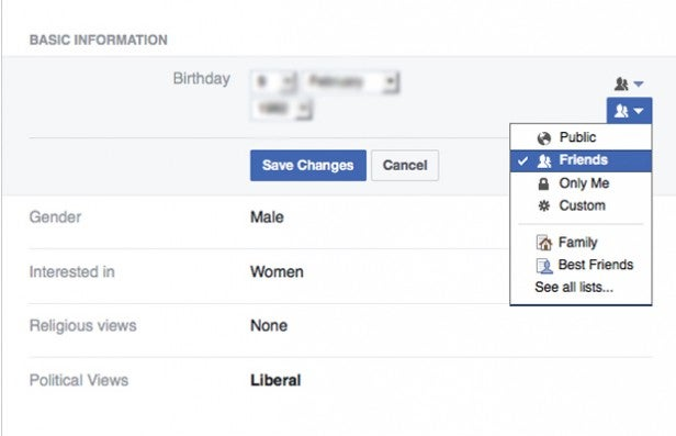 DONA: How to hide my account on facebook