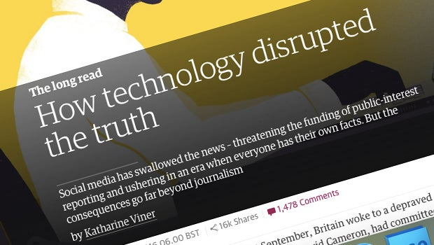 Long read dear guardian technology has disrupted the truth but guardian tech truth reheart Images