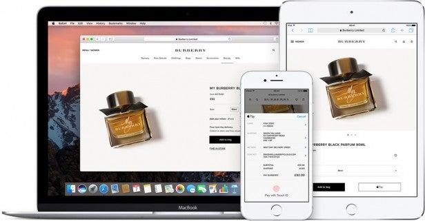 macOS Sierra Apple Pay Safari
