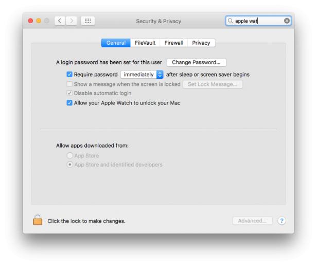 macOS Sierra Unlock with Apple Watch
