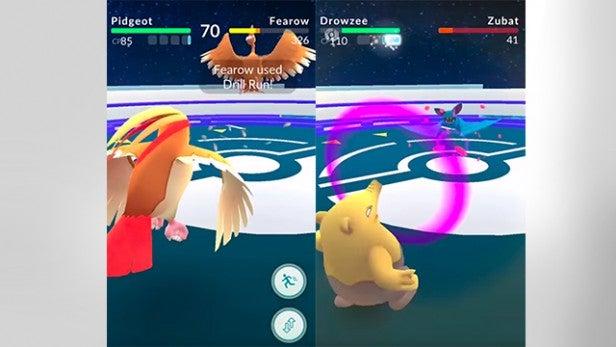pokemon go gym battle