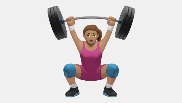 body builder emoji