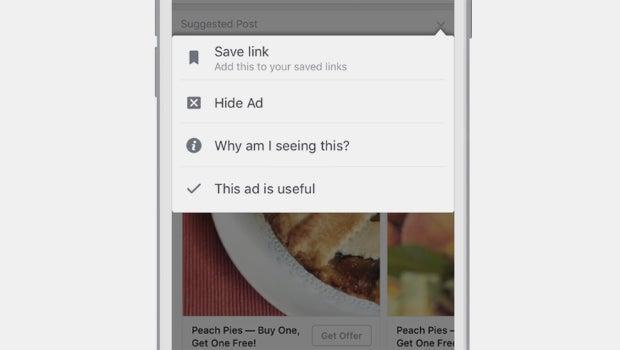 Facebook hide ad