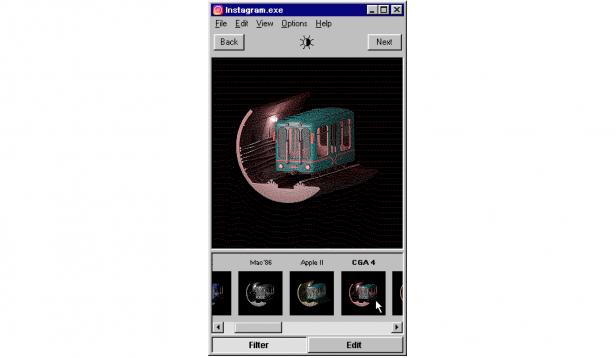 Instagram for Windows 95 filter