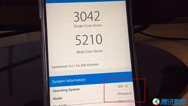 iPhone 6SE Geekbench