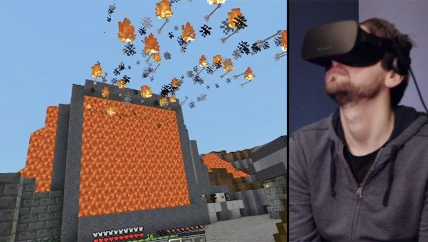 Minecraft VR Rift