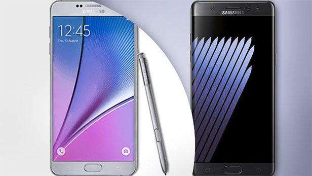 Samsung Galaxy Note 7 vs Note ...