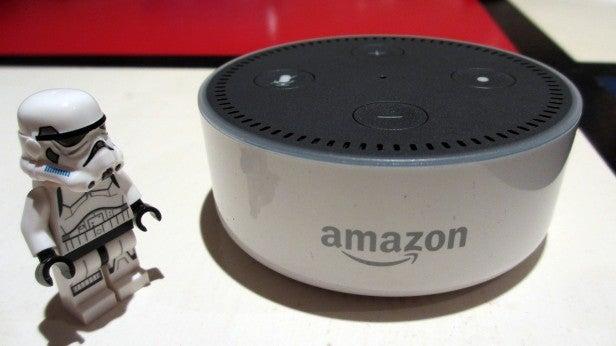 Amazon Echo Dot with Lego Man