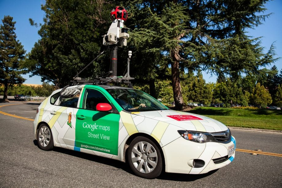 Google's Street View cars have caught themselves sding ... on google maps engine, google maps history, google maps weather, google street view car location, google maps caught on camera, google maps miles, google maps vehicle with camera,