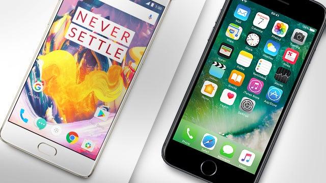 oneplus 3t vs iphone 7