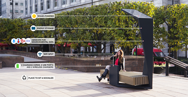 Wireless charging 'Smart Benches' land in the UK – here's how they work   Trusted Reviews