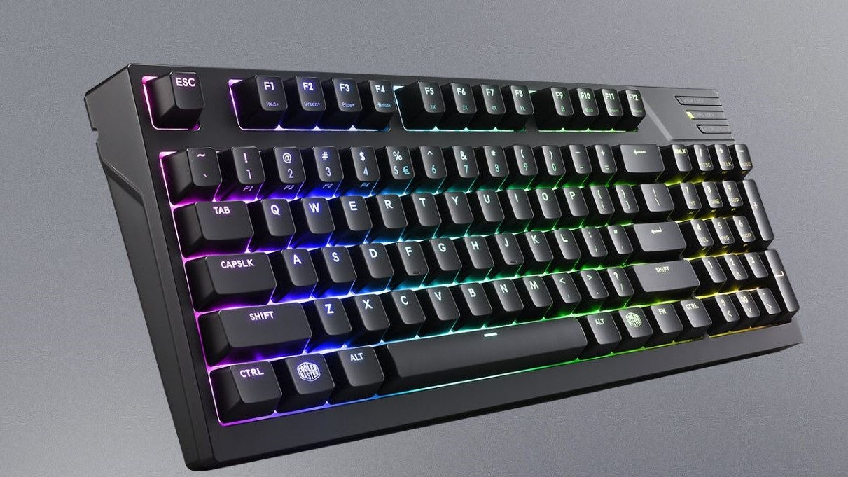 Cooler Master Masterkeys Pro M Rgb Review Trusted Reviews Corsair Mechanical Keyboard K65 Red Switch