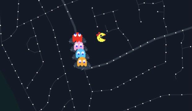 Ms Pac-Man Google Maps