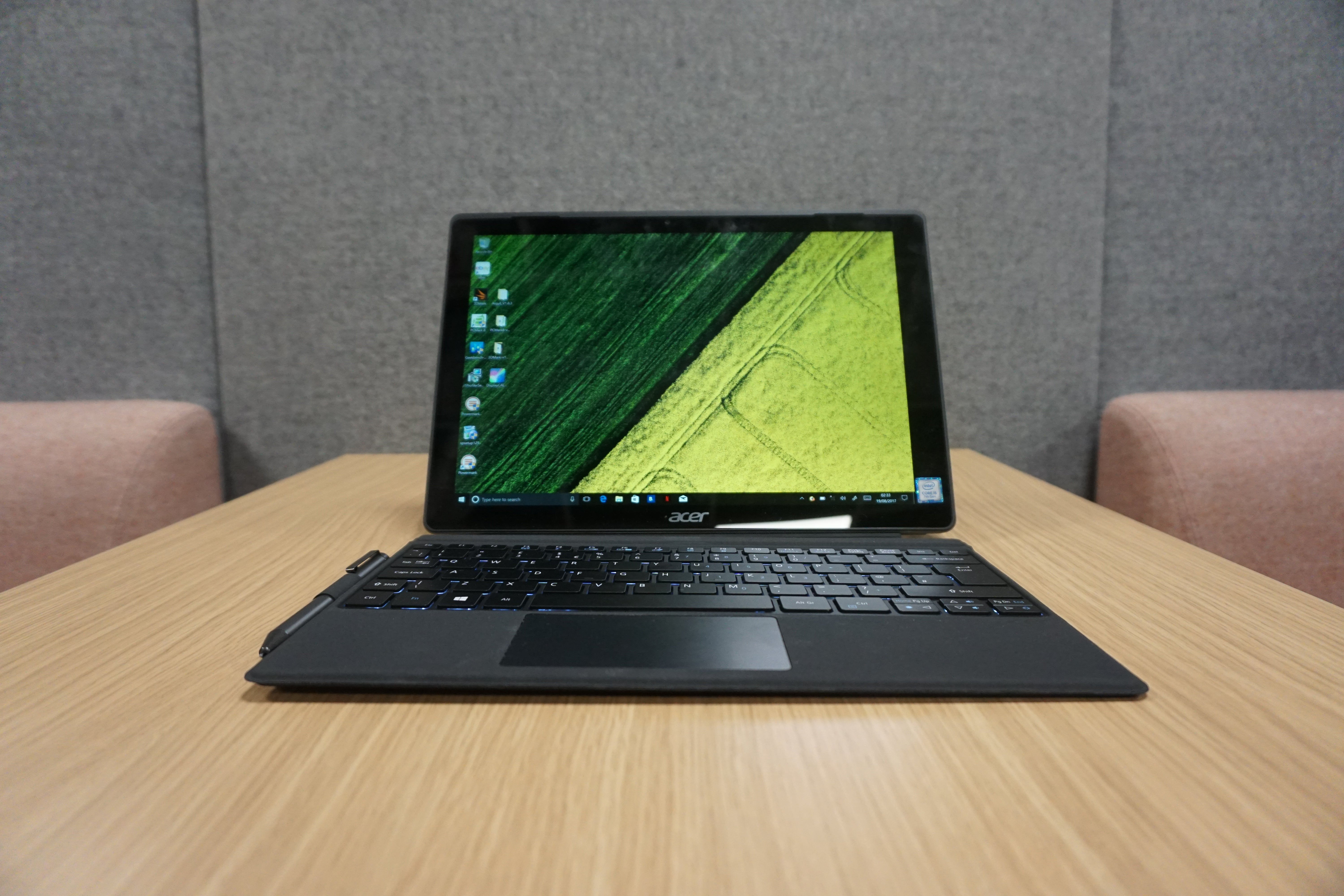 Acer Switch 5 Review Trusted Reviews Labelled Photo Of A Laptop Computer Showing The Monitor