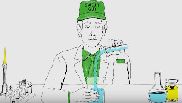 Apple Sweat Guy