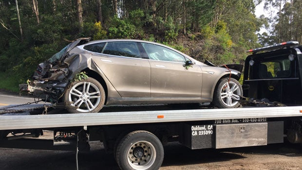 Model S accident