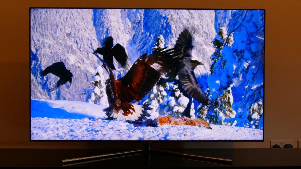 4k Tapete - Samsung 55 Q7f Qled 4k Uhd Smart Tv Qe55q7famt