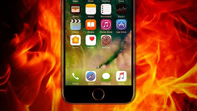 iPhone 7 fire