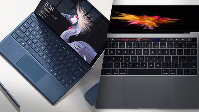 New Surface Pro 2017 Vs Macbook Pro What S The Difference