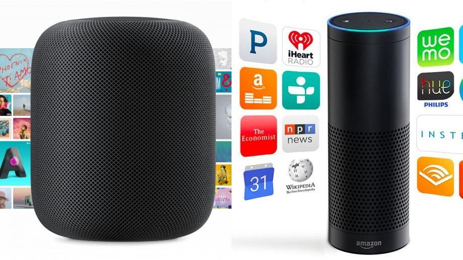Apple HomePod Amazon Echo
