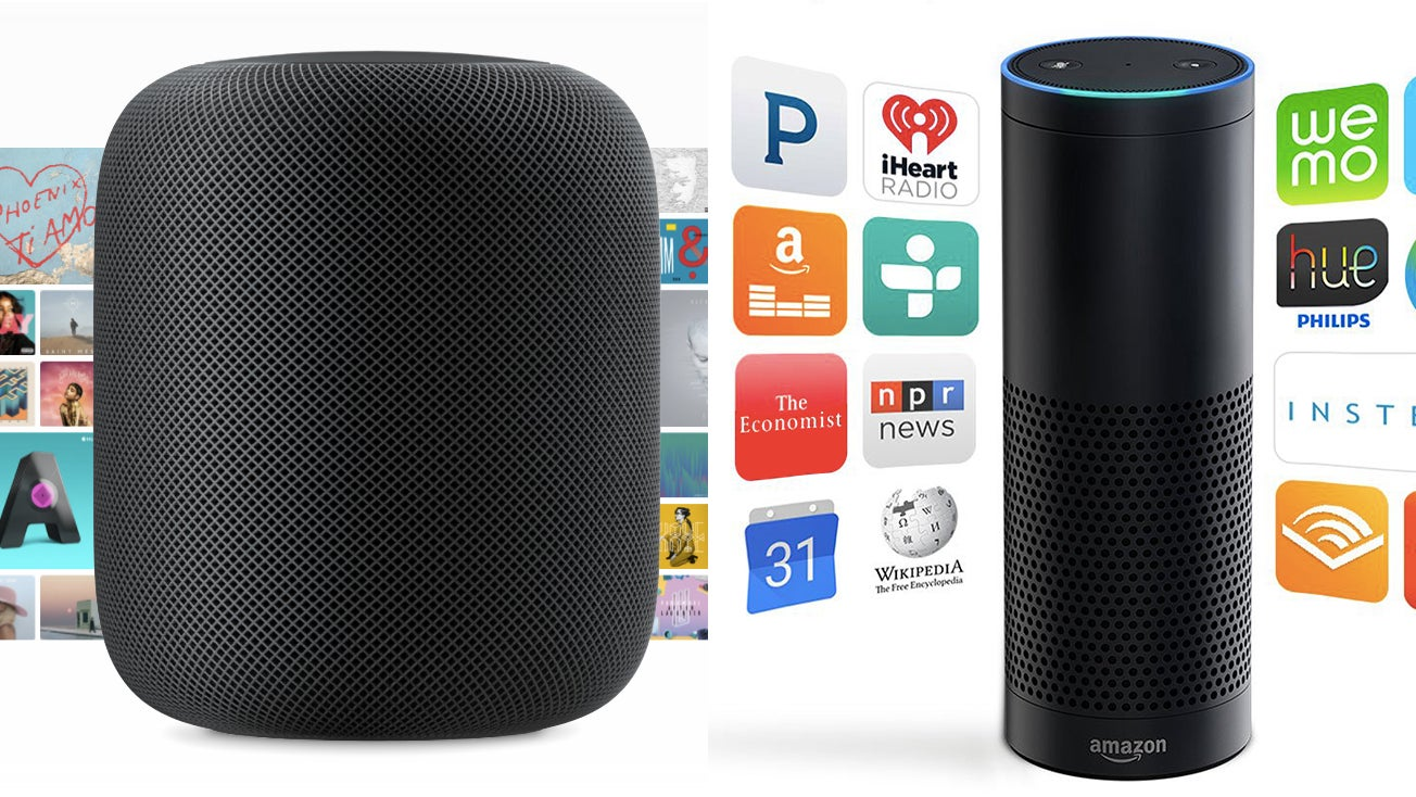 apple homepod vs amazon echo what 39 s the difference. Black Bedroom Furniture Sets. Home Design Ideas