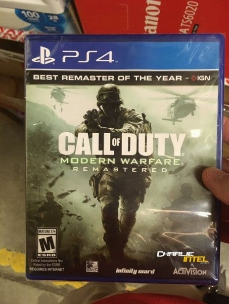 Modern Warfare Remastered Boxed Copy All But Confirms Standalone