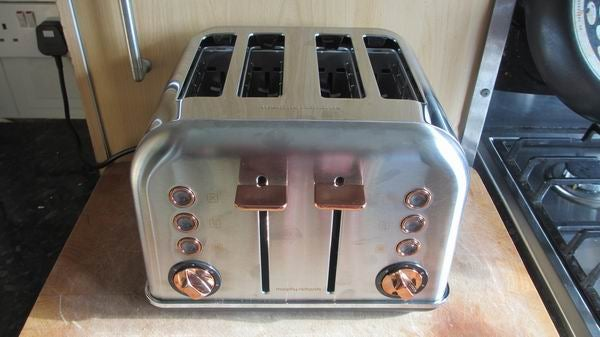 Morphy Richards Rose Gold Four Slice Toaster 4