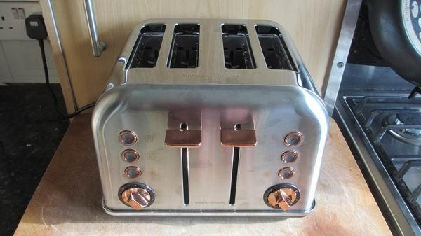 Morphy Richards Rose Gold Four Slice Toaster 4