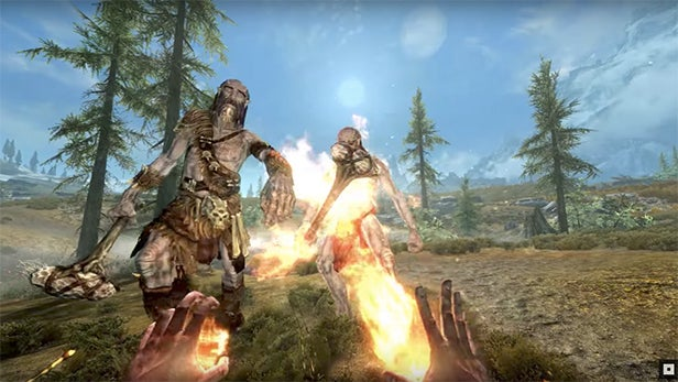 Watch The Skyrim Vr Launch Trailer Right Here Trusted