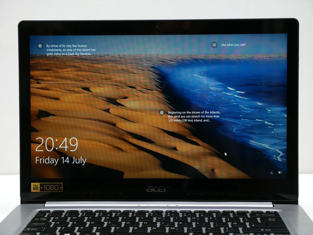 Acer Swift 3 Review Trusted Reviews Add Ram To Your Laptop Easily Maximum Brightness Is Low At Just 249 Nits While Contrast 7351 This Isnt The Lowest Weve Seen On Cheaper Laptops But Its A Far Cry From