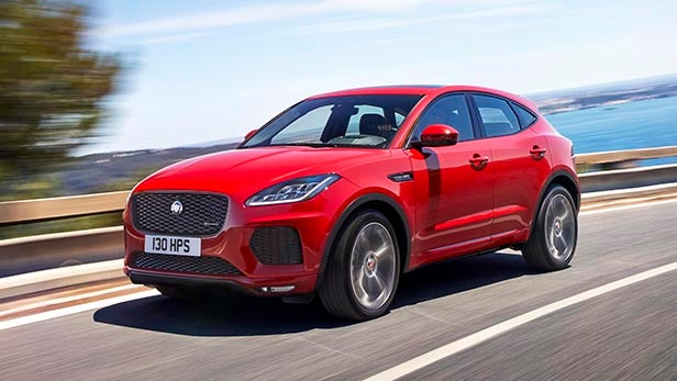 ... Jaguar E-Pace review steering wheel ...