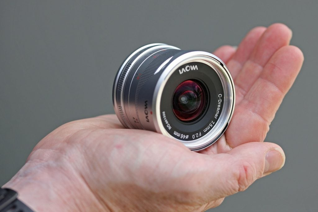 Laowa 7.5mm f/2 MFT in-hand