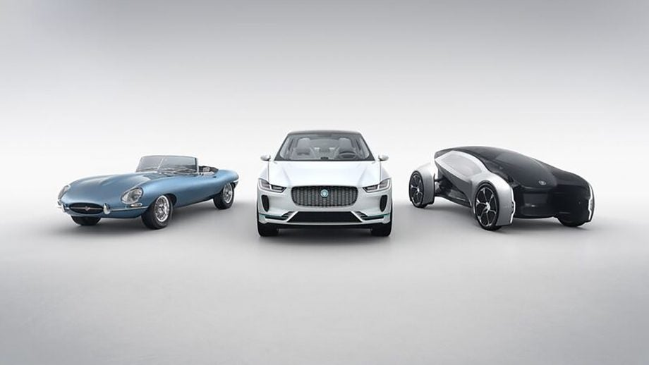 Credit Jaguar Land Rover Fully Electric E Type Zero Left I Pace Centre Autonomous Future Right