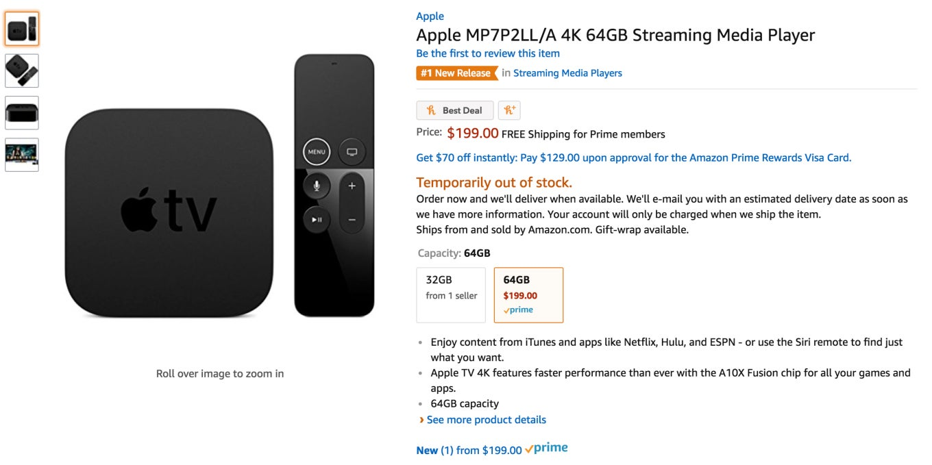 Is the feud over? Apple TV 4K makes a brief return to Amazon