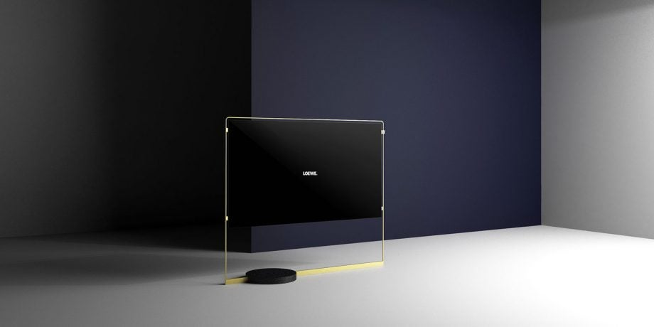 this loewe bild x concept is a statement oled tv if ever we 39 ve seen one trusted reviews. Black Bedroom Furniture Sets. Home Design Ideas